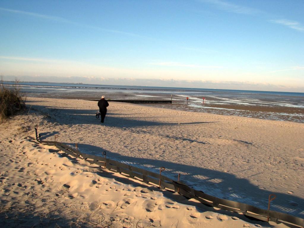 Strand von Hooksiel im Herbst