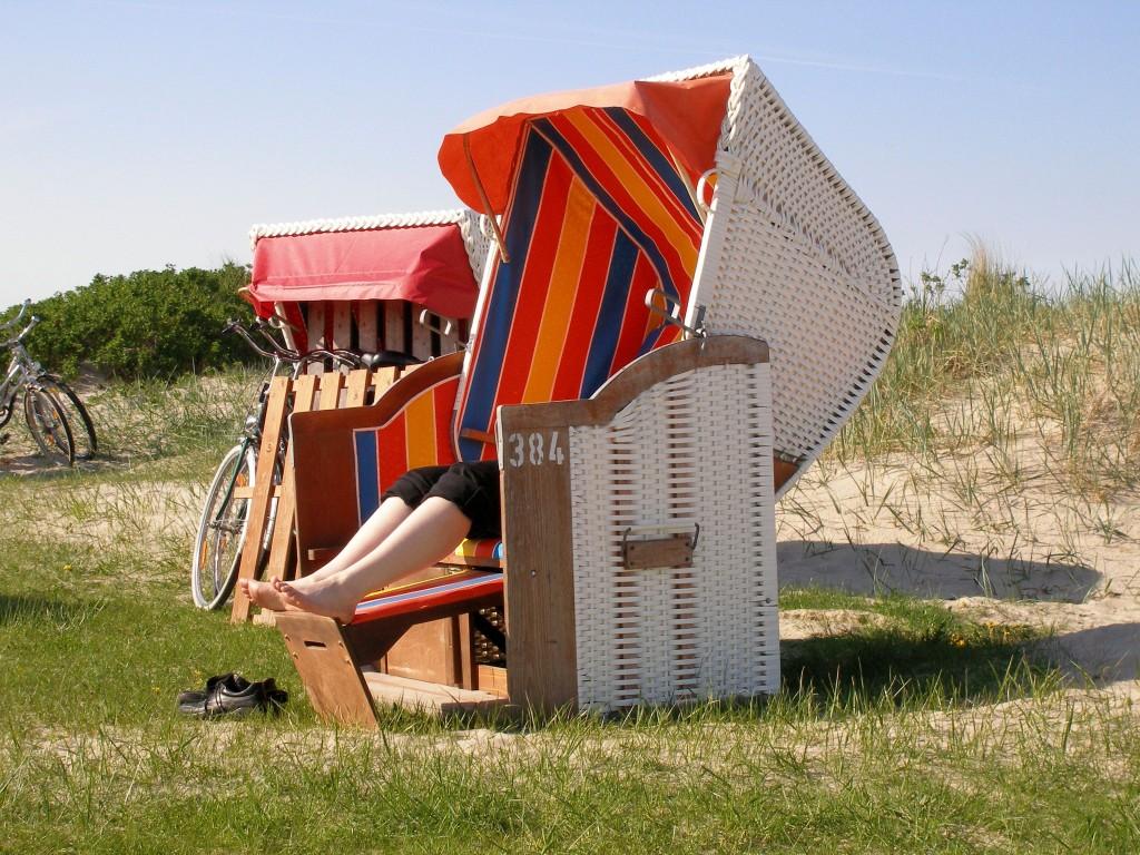 Strandkorb am Badestrand von Hooksiel